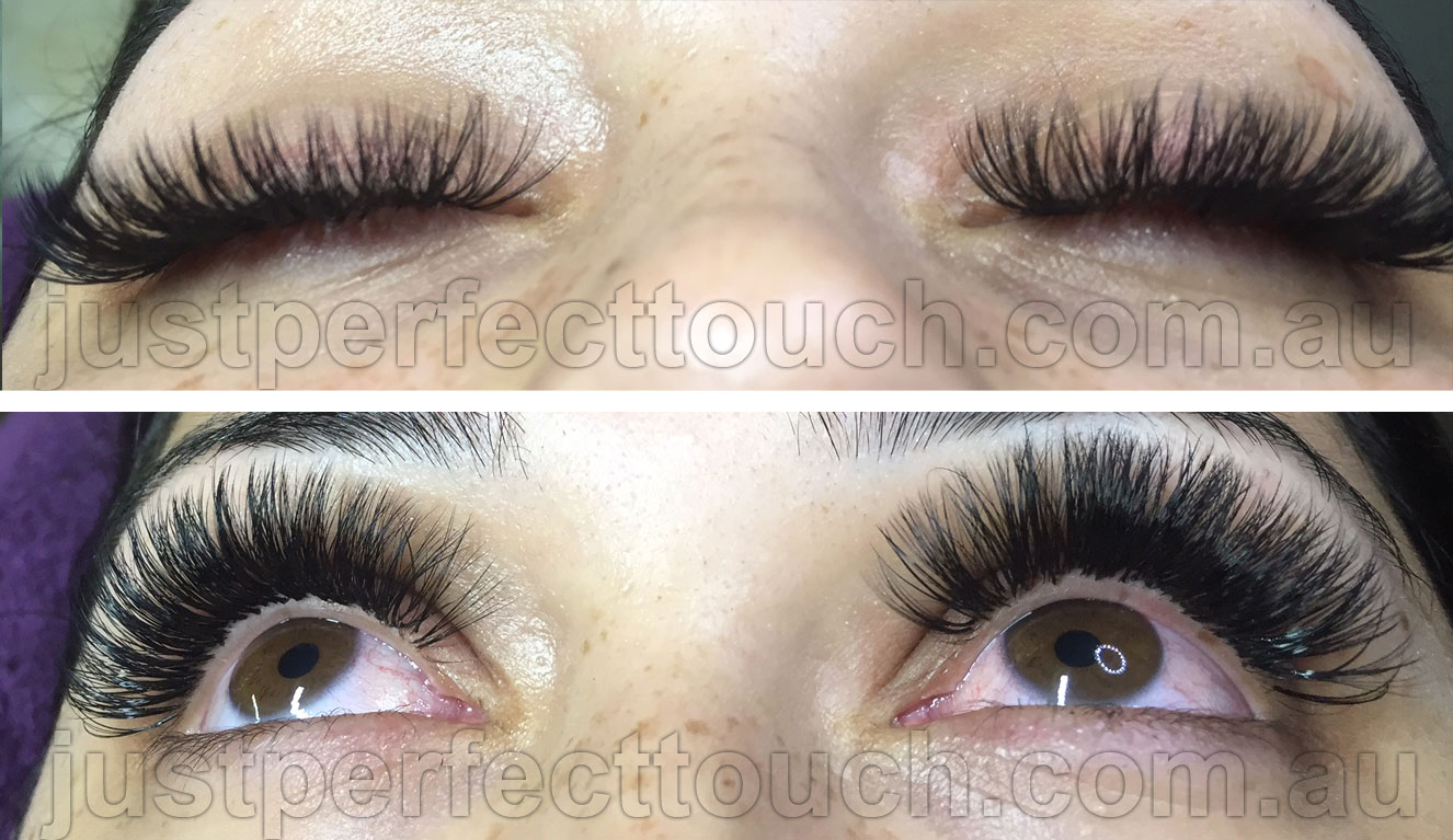 Russian Volume Eyelash Extensions Just Perfect Touch