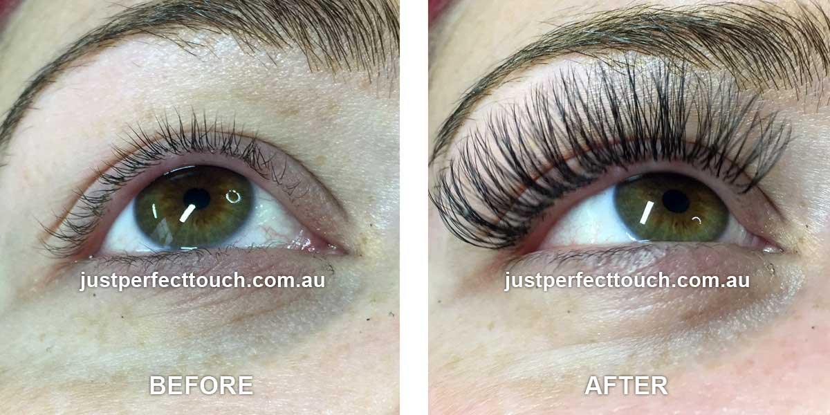 3d russian eyelash extensions before after