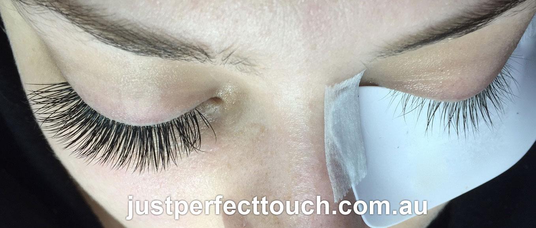 Mink eyelash extensions