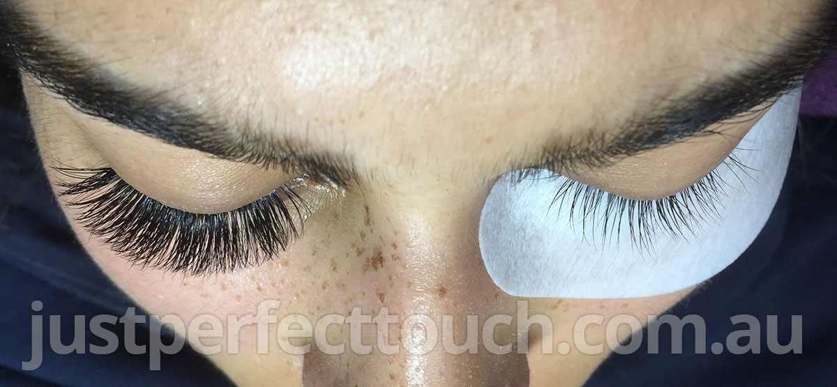 volume lashes before after melbourne